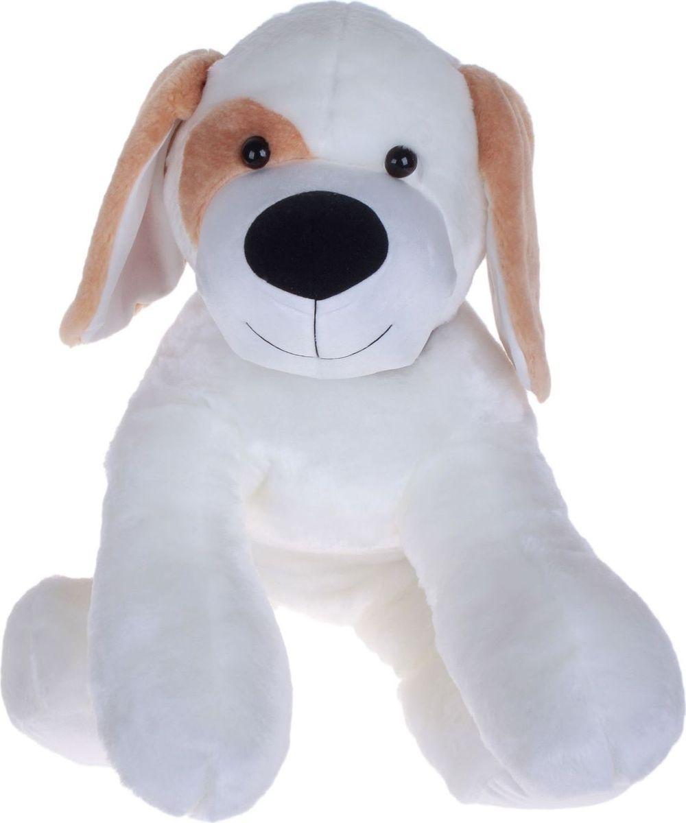 Sima-land Мягкая игрушка Собачка цвет белый 85 см влаговпитывающий автомобильный коврик автопамперс абсорбирующий многоразовый