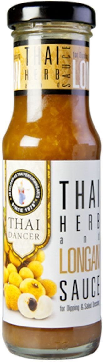 Thai Dancer Соус с лонганом и имбирем, 150 мл3160008Яркий, экзотический соус, построенный на сочетании вкусов тайской и итальянской кухонь. С легкой, практически незаметной остринкой и выраженным лимонным ароматом. Замечательно подходит к любым морепродуктам и рыбе, шашлыкам, а также картофелю фри и чипсам. Может использоваться в качестве заправки для салатов или даже как соус для пиццы. Попробуйте этот необычный соус с лимоном и чили - и вы откроете для себя совершенно новые грани вкусов уже знакомых блюд!