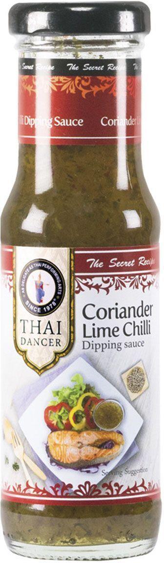 Thai Dancer Соус с кориандром и лаймом, 150 мл0120710Пряный, необычный и яркий. Соус с кориандром и лаймом обладает незабываемым кисло-пряным вкусом, благодаря которому он идеально подходит как к морепродуктам, так и к курице, мясу, лапше, чипсам.