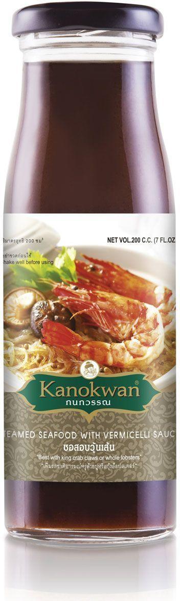 Kanokwanа Соус для обжарки креветок и лапши, 200 мл0120710Этот соус идеально подходит для термической обработки (тушения и обжарки) любых морепродуктов: устриц, мидий, креветок, крабов. Придает морепродуктам имбирно-чесночный аромат. Также прекрасно подходит для приготовления лапши на воке. Просто добавьте 2-3 ч.л. соуса к лапше, добавьте креветки, обжарьте 4 минуты - и блюдо готово. Соус является полностью самодостаточным, к нему не требуется добавлять соевый соус или перец или сахар - все правильные сочетания вкусов для настоящего вока уже есть в этой чудесной бутылочке.