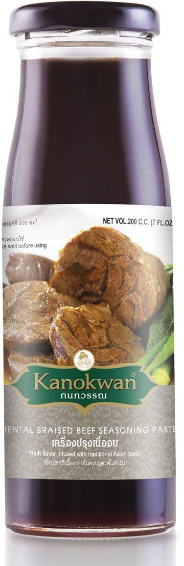Kanokwan Соус для обжарки говядины, 200 мл0120710Пряный, необычный, с узнаваемым ароматом пяти китайских специй, этот соус не только придаст изумительную мягкость любому мясу, но и наполнит вашу кухню восхитительными запахами. С этим соусом вы сможете за 15 минут приготовить массу блюд, которые сделают честь даже самому роскошному ресторану паназиатской кухни.