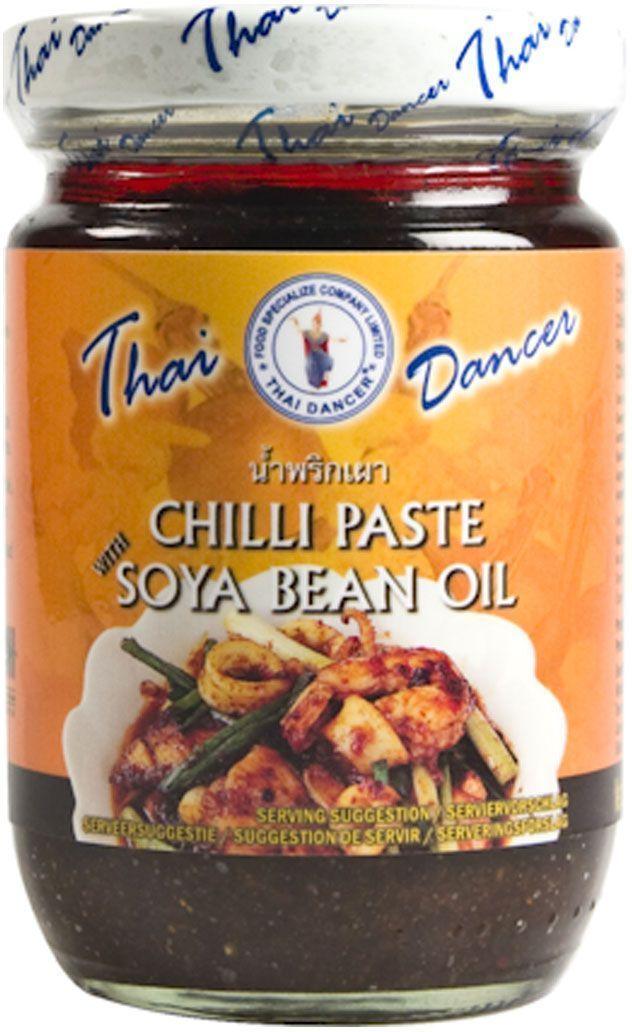 Thai Dancer Паста чили с сушеными креветками, 227 г0120710Незаменимая в тайской кухне Паста Чили с сушеными креветками и соевым маслом для приготовления огромного количества вкуснейших аутентичных тайских блюд.