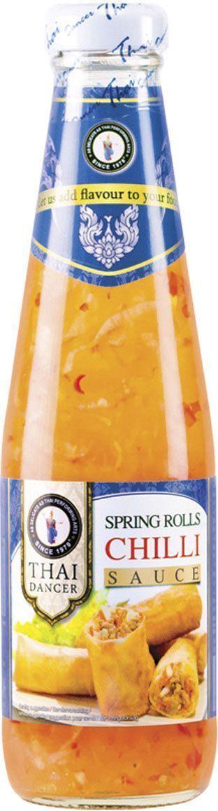 Thai Dancer Соус для спринг-роллов, 300 мл0120710Восхитительный кисло-сладкий соус для роллов идеально подходит в качестве дополнения к роллам и блюдам из мяса и морепродуктов. Добавляется к салатам и блюдам, требующим обжаривания на сковороде вок.Используется для блюд китайской, японской, тайской, вьетнамской, индонезийской кухни. Идеально подходит для обмакивания спринг-роллов, дим самов, крекеров, чипсов, картофеля-фри и блюд во фритюре. Имеет кисло-сладкий вкус, присутствие в числе ингредиентов перца чили на вкусе практически не сказывается, благодаря чему соус подходит и для тех, кто не любит острого.
