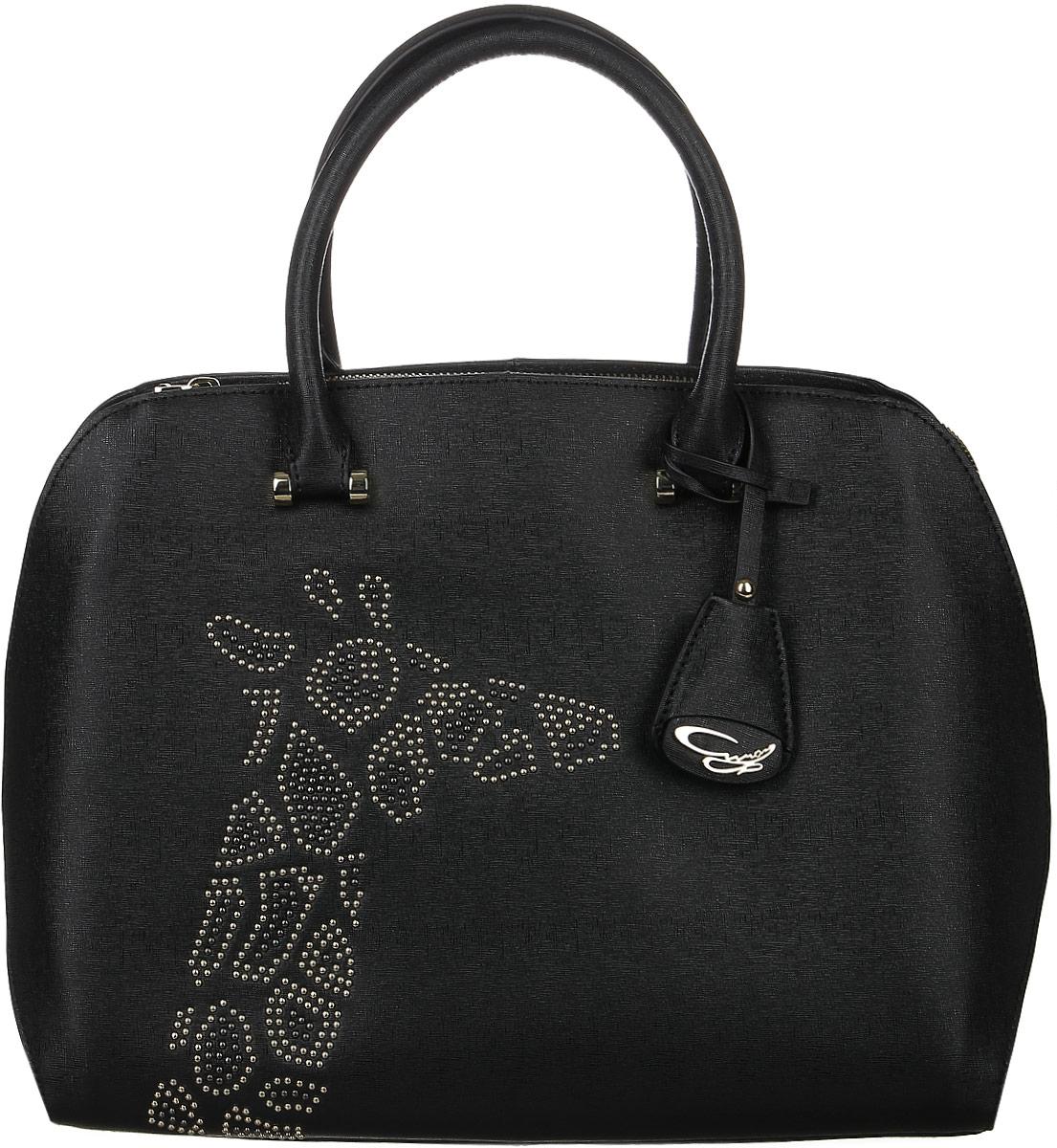 Сумка жен Curanni Сафари, цвет: черный. 203171069с-2Элегантная сумка итальянского бренда Curanni, сделана из натуральной кожи. Такая модель превосходно дополнит любой деловой образ, и также может стать превосходным дополнением образа на прогулке или в клубе. Благодаря хорошей вместительности будет очень удобна для повседневного использования, что по достоинству оценит любая девушка. Внутри: Два кармана, один из которых на потайной молнии, подойдет для документов или мелочей, другие два кармана без молнии также подойдут для мелочей или мобильного телефона. Внутри сумки два отдела разделенные карманом на молнии. Снаружи: Один карман на тыльной стороне сумки на молнии. Дополнена длинным ремнем.