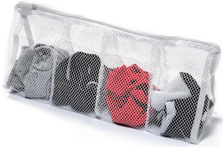 Мешок для стирки Marbet, с разделителями , 43 х 17 смBH-UN0502( R)Идеально подходит для стирки и отдельного хранения личного белья (колготки, носки, носовые платки и т.п.)