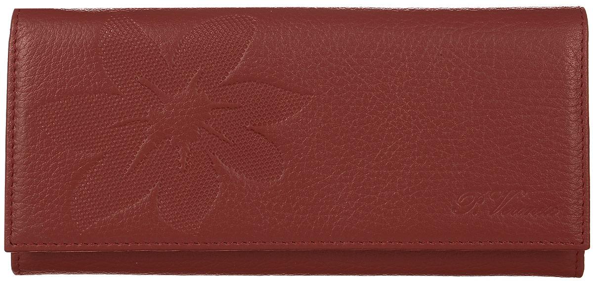 Портмоне женское Paolo Veronese, цвет: красный. PV-NK030-PR0032-000BM8434-58AEПортмоне большое Paolo Veronese из натуральной кожи с тиснением. Закрывается на кнопку. На задней стенке скрытый карман. Внутри 3 отделения для купюр, 2 скрытых кармана, глубокий карман, отделение для мелочи на молнии, 8 карманов для кредиток.