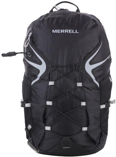 Рюкзак для походов Merrell Capra Trail 2.0, цвет: черный. JBS23934JBS23934Рюкзак для походов Merrell Capra Trail 2.0 выполнен из текстиля. Подходит для бега по пересеченной местности. У модели боковые карманы из сетки с отделением для бутылки, крепление для светового маячка, резиновая шнуровка спереди для, дополнительного места хранения, возможность вставки камеры с жидкостью, вставки из дышащего материала на плечах, регулируемые грудные ремни, ремень на бедрах боковыми застежками и карманами.Вместительное основное отделение на молнии, с защитой от промокания, удобная спинка из легкого дышащего материала. Петли для трекинговых палок-ледорубов.