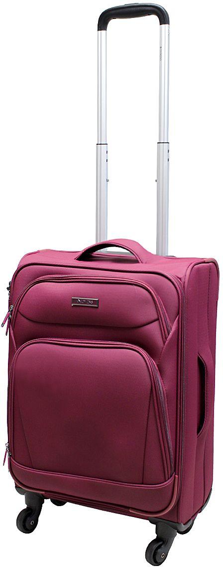 Чемодан Edmins, цвет: бордовый, 40 л. 362 CT 720*2362 CT 720*2Суперлегкий чемодан Edmins 362 СТ изготовлен из плотного полиэстера. Ткань легко чистится, проста в уходе, выдерживает температурные перепады. Чемодан имеет одно основное отделение для хранения одежды и аксессуаров, которое закрывается на застежку-молнию. Внутри имеются поперечные прижимные ремни для фиксации вещей и боковой карман на молнии для мелочей. На крышке чемодана - сетчатое отделение на молнии. Внутренняя поверхность изделия отделана атласным полиэстером. С лицевой стороны содержатся два дополнительных кармана на молнии. Имеется встроенная адресная бирка, расположенная на задней стенке чемодана.Чемодан оснащен выдвижной алюминиевой ручкой с кнопкой-фиксатором. Четыре колеса вращаются на 360°, что обеспечивает маневренность и плавность хода. Боковая поверхность оснащена 4 пластиковыми вставками для предотвращения загрязнений. Для переноски в руке предусмотрены 2 ручки, одна из которых боковая. Чемодан имеет кодовый замок. Предварительно установленная комбинация открытия - 000. Вы можете заменить ее на другую, следуя инструкции. В комплекте мешок для обуви. Стильный чемодан Edmins вместит все необходимые вещи и станет незаменимым аксессуаром для поездок.Нагрузка: 10 кг. Высота выдвижной ручки: 50 см.