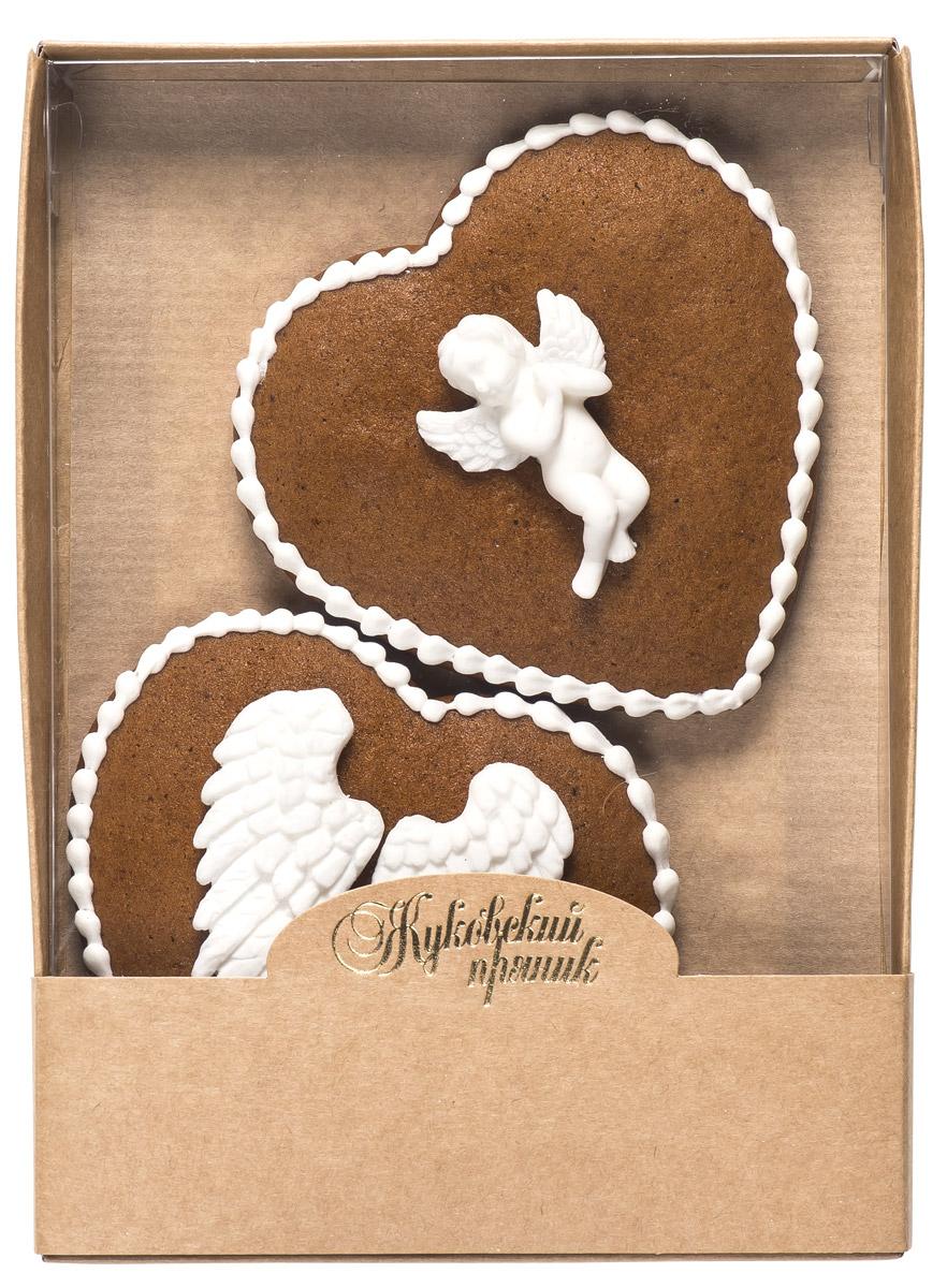 Жуковский пряник Подарочный набор Поцелуй ангела, 95 г0120710Медово-имбирные пряники с росписью из айсинга и декором из мастики. Чудесный набор пряного, медово-имбирного печенья, с романтичным, красивейшим декором , созданный специально для вас и ваших любимых ко Дню Святого Валентина! Набор таких пряничков непременно порадует ваших близких и станет отличным подарком к самому романтичному празднику! Уважаемые клиенты! Обращаем ваше внимание, что полный перечень состава продукта представлен на дополнительном изображении.