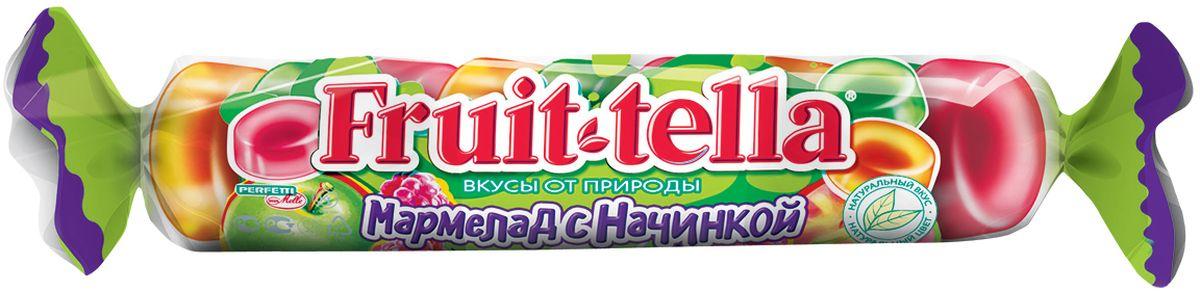 Fruittella жевательный мармелад с фруктовой начинкой, 52 г0120710Мармелад с начинкой в удобной карманной упаковке!