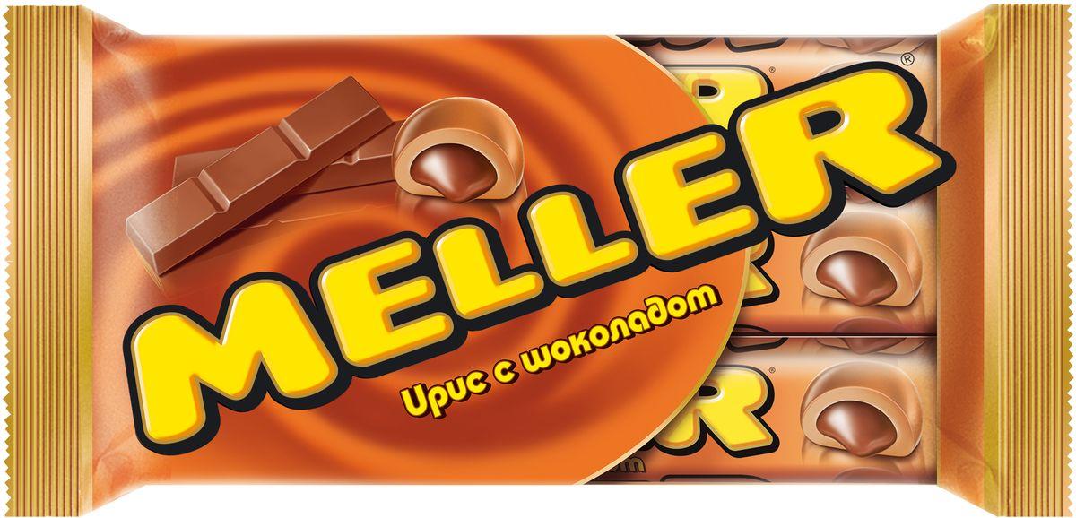 Meller ирис с шоколадом, 3 шт по 38 г0120710Ирис Meller молочный шоколад изготовлен на основе натуральных ингредиентов с использованием сгущенного молока и какао. Основную часть конфеты составляет жевательный ирис, а в ее сердцевине – измельченный молочный шоколад, который эффектно дополняет нежный сливочный вкус. Конфеты можно брать собой повсюду благодаря компактным размерам упаковки.