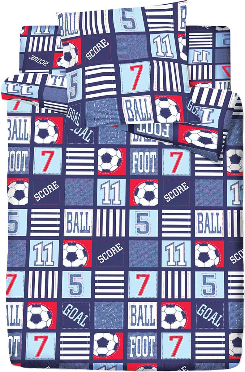 Комплект белья Браво Кидс Матч, 1,5-спальное, наволочки 70x70, цвет: синий10503BRAVO Kids Dreams - линейка постельного белья для детей и подростков из прекрасной ткани LUX COTTON (высококачественный поплин). Это современные забавные и яркие дизайны, которые украсят любой интерьер детской комнаты и долго будут радовать своих обладателей высоким качеством и отличным внешним видом. • Равноплотная ткань из 100% хлопка;• Обработана по технологии мерсеризации и санфоризации;• Мягкая и нежная на ощупь;• Устойчива к трению;• Обладает высокими показателями гигроскопичности (впитывает влагу);• Выдерживает частые стирки, сохраняя первоначальные цвет, форму и размеры;• Безопасные красители ведущего немецкого производителя BEZEMA • Лауреат премии Золотой медвежонок