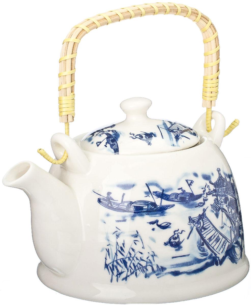 Чайник заварочный Vetta Восточная река, с фильтром, 900 млVT-1520(SR)Украсьте свое чаепитие изысканным чайником Vetta Восточная река, декорированный красочным изображением. В чайнике имеется металлическое ситечко, ручка чайника декорирована бамбуковым волокном. В этом красивом чайнике чай получается очень насыщенным, ароматным и долго остается горячим.Упакован в подарочный короб, что может послужить отличным подарком родным и близким.