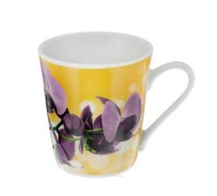 Кружка Классик. Орхидея, цвет: желтый, фиолетовый, 300 мл115510Кружка Классик. Орхидея изготовлена из высококачественного фарфора. Изделие оформлено красочным цветочным рисунком и покрыто превосходной глазурью. Изысканная кружка прекрасно оформит стол к чаепитию и станет его неизменным атрибутом.Диаметр кружки (по верхнему краю): 8,5 см.Высота стенок: 9,5 см.
