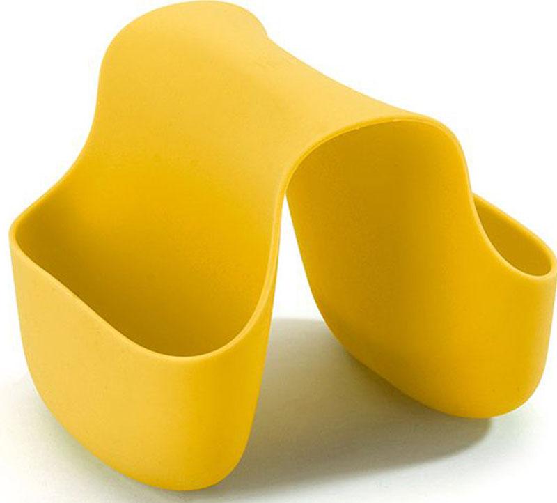 Подставка для кухонных принадлежностей Umbra Saddle, цвет: желтый, 10,2 х 12,7 х 10,2 смFA-5125 WhiteГибкий органайзер с двумя кармашками в новом модном цвете. В нем может поместиться что угодно: губки и щётки для мытья посуды, диспенсеры с моющими средствами и прочие небольшие предметы на кухне или в ванной. Не содержит BPA. Можно мыть в посудомоечной машине.Сочетается с другими аксессуарами для кухни в новой цветовой палитре: диспенсером Joey и сушилкой Tub.Дизайнер Ross & Doell