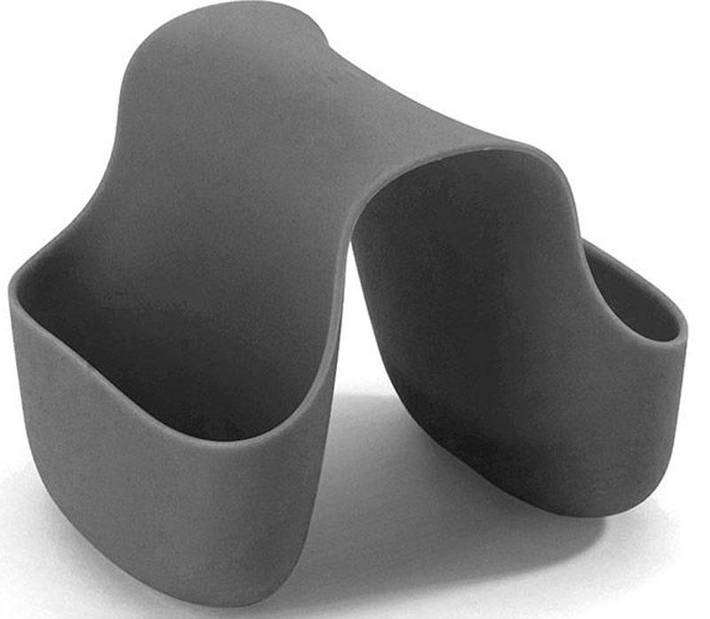 Подставка для кухонных принадлежностей Umbra Saddle, цвет: темно-серый, 10,2 х 12,7 х 10,2 смПЦ1564ГЛПГибкий органайзер с двумя кармашками в новом модном цвете. В нем может поместиться что угодно: губки и щётки для мытья посуды, диспенсеры с моющими средствами и прочие небольшие предметы на кухне или в ванной. Не содержит BPA. Можно мыть в посудомоечной машине.Сочетается с другими аксессуарами для кухни в новой цветовой палитре: диспенсером Joey и сушилкой Tub.Дизайнер Ross & Doell