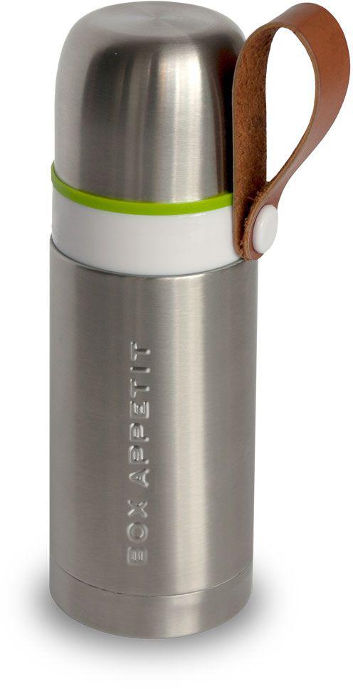 Термос Black+Blum Box Appetit, 350 мл. BAM-TF-S001115510Компактный функциональный термос, выполненный в винтажном стиле. Сохраняет температуру горячих напитков на протяжении 8 часов и холодных — на протяжении 24 часов. Оснащен ручкой из эко-кожи и удобной кнопкой на горлышке для переливания. Объем — 350 миллилитров.