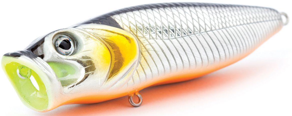 Воблер плавающий Atemi Crazy Pop, цвет: silver black, длина 11,5 см, вес 29 г513-00030Плавающий воблер Atemi Crazy Pop является наилучшей приманкой как для троллинга, так и для ловли в заброс. Рекомендуется для ловли щуки, окуня, форели, басса, язя, голавля, желтоперого судака, жереха. Эта приманка превосходна для ловли рыбы, если ее забрасывать вверх по течению, только обеспечивайте скорость проводки немного быстрее, чем скорость течения. Она также хорошо работает при ловле рыбы против течения, проводите приманку по более глубоким местам, там, где чаще стоят в засаде более крупные экземпляры. Необходимое условие для ловли на Atemi Crazy Pop - чтобы вы использовали правильно подобранную снасть: легкий и чувствительный спиннинг, крошечные застежки и вертлюжки, самую тонкую леску, которой сможете управлять приманкой, чтобы обеспечить ей наилучшую работу.