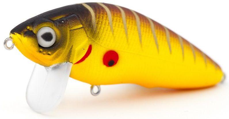 Воблер плавающий Atemi Black Widow Zero, цвет: mat tiger, длина 6 см, вес 8,5 г513-00120Плавающий воблер Atemi Black Widow Zero рекомендуется для ловли щуки, окуня, форели, басса, язя, голавля, желтоперого судака, жереха. Эта легкая приманка может использоваться для ловли рыбы вверх по течению. Также подходит для ловли рыбы против течения. Воблер выполнен из прочного металла и пластика.