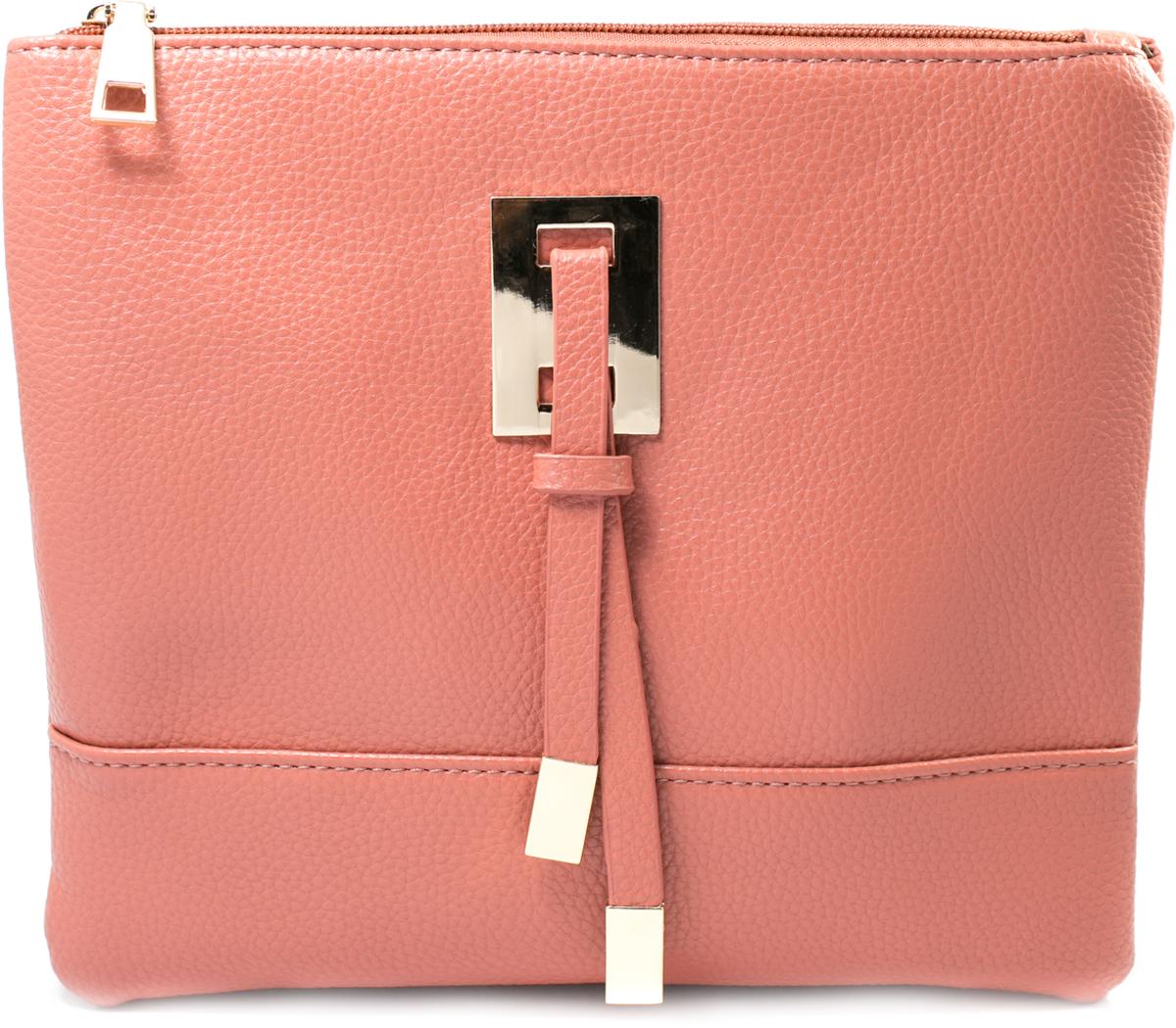 Клатч Mitya Veselkov, цвет: розовый. LADYBAG4-1210931-1Стильный клатч Mitya Veselkov станет отличным дополнением вашего образа. Два больших независимых отделения на молнии, одно отделение посередине, плюс еще одно отделение на молнии на тыльной стороне. В комплекте отстегивающийся ремешок, можно использовать как сумку.