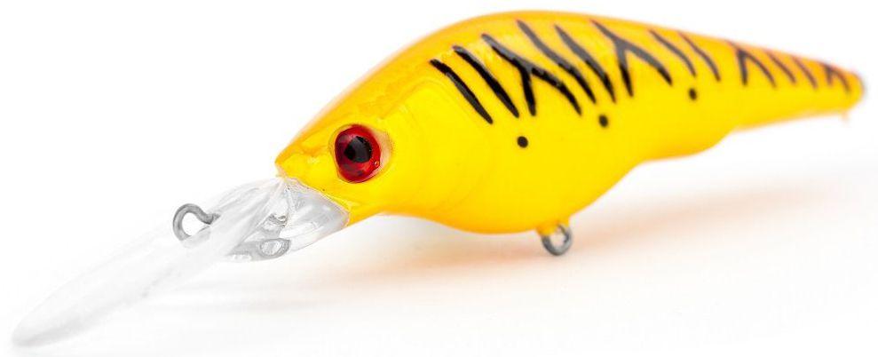 Воблер суспендер Atemi Black Widow Two, цвет: orange tiger, длина 6 см, вес 8,5 г, заглубление 2 м513-00129Воблер Atemi Black Widow Two - это яркая и качественная приманка, которая рекомендуется для ловли щуки, форели, басса, голавля, жереха, желтоперого судака, окуня. Эта легкая приманка может использоваться для ловли рыбы вверх по течению, если обеспечить более высокую, нежели скорость течения, скорость проводки. Воблер также может использоваться и при ловли против течения.Заглубление: 2 м.