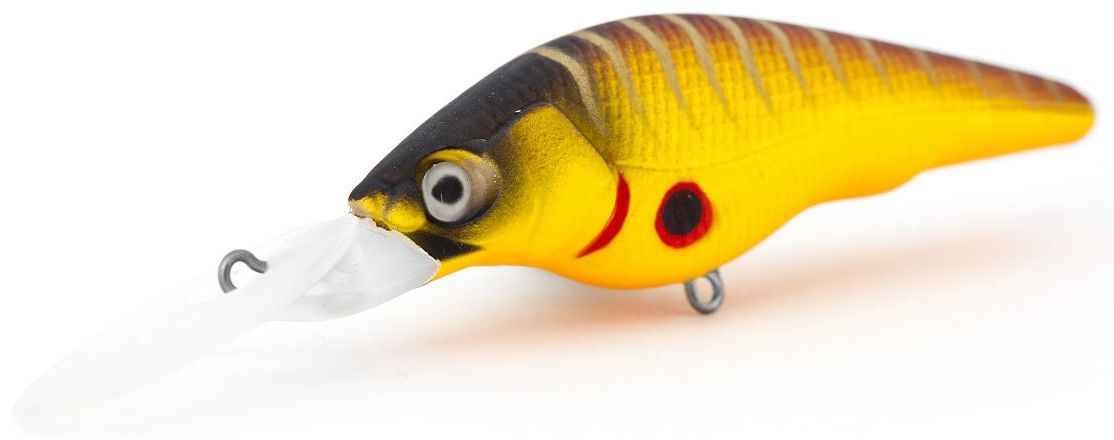 Воблер суспендер Atemi Black Widow Two, цвет: mat tiger, длина 6 см, вес 8,5 г, заглубление 2 м513-00130Воблер Atemi Black Widow Two - это яркая и качественная приманка, которая рекомендуется для ловли щуки, форели, басса, голавля, жереха, желтоперого судака, окуня. Эта легкая приманка может использоваться для ловли рыбы вверх по течению, если обеспечить более высокую, нежели скорость течения, скорость проводки. Воблер также может использоваться и при ловли против течения.Заглубление: 2 м.