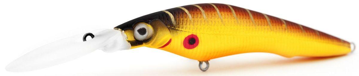 Воблер плавающий Atemi Deep Black Widow, цвет: mat tiger, длина 5 см, вес 1,5 г, заглубление 1,5 м010-01199-23Плавающий воблер Atemi Deep Black Widow рекомендуется для ловли щуки, окуня, форели, басса, язя, голавля, желтоперого судака, жереха. Необходимое условие для ловли на воблер - чтобы вы использовали правильно подобранную снасть: легкий и чувствительный спиннинг, крошечные застежки и вертлюжки, самую тонкую леску, которой сможете управлять приманкой, чтобы обеспечить ей наилучшую работу. Воблер также хорошо работает при ловле рыбы против течения, проводите приманку по более глубоким местам, там, где чаще стоят в засаде более крупные экземпляры. Эта приманка превосходна для ловли рыбы, если ее забрасывать вверх по течению, только обеспечивайте скорость проводки немного быстрее, чем скорость течения. Для озер Atemi Deep Black Widow и водохранилищ является наилучшей приманкой как для троллинга, так и для ловли в заброс.Заглубление: 1,5 м.