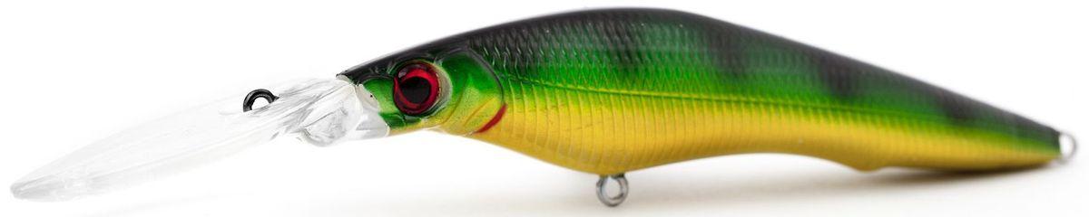 Воблер плавающий Atemi Deep Black Widow, цвет: perch, длина 9 см, вес 13,8 г, заглубление 4,5 м513-00138Плавающий воблер Atemi Deep Black Widow рекомендуется для ловли щуки, окуня, форели, басса, язя, голавля, желтоперого судака, жереха. Необходимое условие для ловли на воблер - чтобы вы использовали правильно подобранную снасть: легкий и чувствительный спиннинг, крошечные застежки и вертлюжки, самую тонкую леску, которой сможете управлять приманкой, чтобы обеспечить ей наилучшую работу. Воблер также хорошо работает при ловле рыбы против течения, проводите приманку по более глубоким местам, там, где чаще стоят в засаде более крупные экземпляры. Эта приманка превосходна для ловли рыбы, если ее забрасывать вверх по течению, только обеспечивайте скорость проводки немного быстрее, чем скорость течения. Для озер Atemi Deep Black Widow и водохранилищ является наилучшей приманкой как для троллинга, так и для ловли в заброс.Заглубление: 4,5 м.