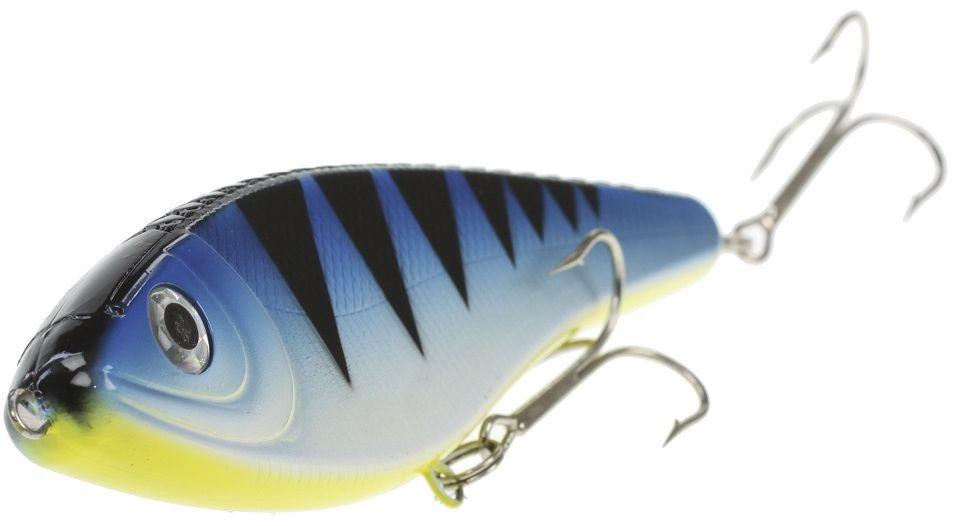 Джеркбейт Blind Derky Jerk, цвет: синий, черный, длина 15 см, вес 70 гBKY-15006Джеркбейт Blind Derky Jerk - это приманка, для которой характерна проводка с чередованием рывков и остановок, в противном случае изделие из-за большого веса и размера пойдет ко дну. Подобная скачкообразная игра привлекает хищных рыб и выманивает их с глубины. Рекомендуется для ловли - щуки, окуня, форели, басса, язя, голавля, желтоперого судака, жереха.
