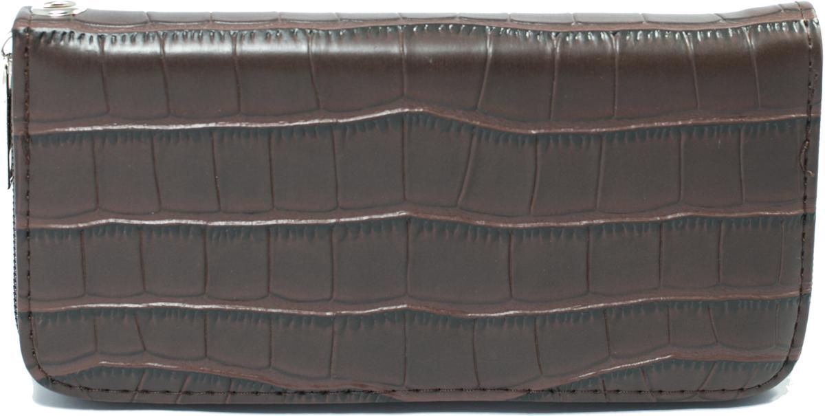 Кошелек женский Mitya Veselkov, цвет: коричневый. K4-BRO495350нЖенский кошелек отличного дизайна от модного бренда Mitya Veselkov. Купюры вмещаются в полную длину. Закрывается кошелек на молнию. Внутри расположено три больших отделения для купюр, кармашки для пластиковых карт и визиток, одно отделение для мелочи.Такой кошелек стильно дополнит ваш образ и станет незаменимым аксессуаром.