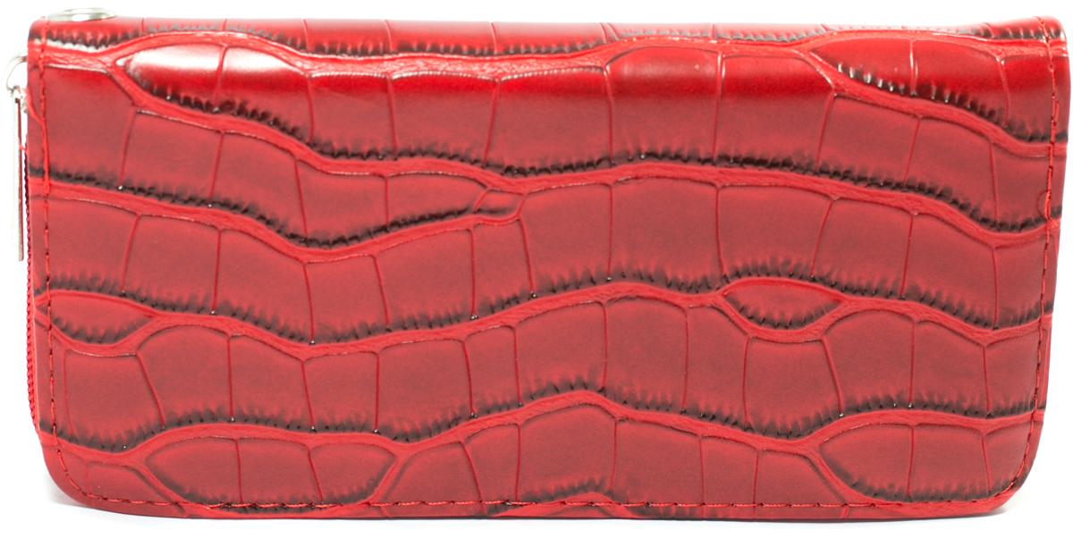 Кошелек женский Mitya Veselkov, цвет: красный. K4-REDJC50-63278Женский кошелек отличного дизайна от модного бренда Mitya Veselkov. Купюры вмещаются в полную длину. Закрывается кошелек на молнию. Внутри расположено три больших отделения для купюр, кармашки для пластиковых карт и визиток, одно отделение для мелочи.Такой кошелек стильно дополнит ваш образ и станет незаменимым аксессуаром.
