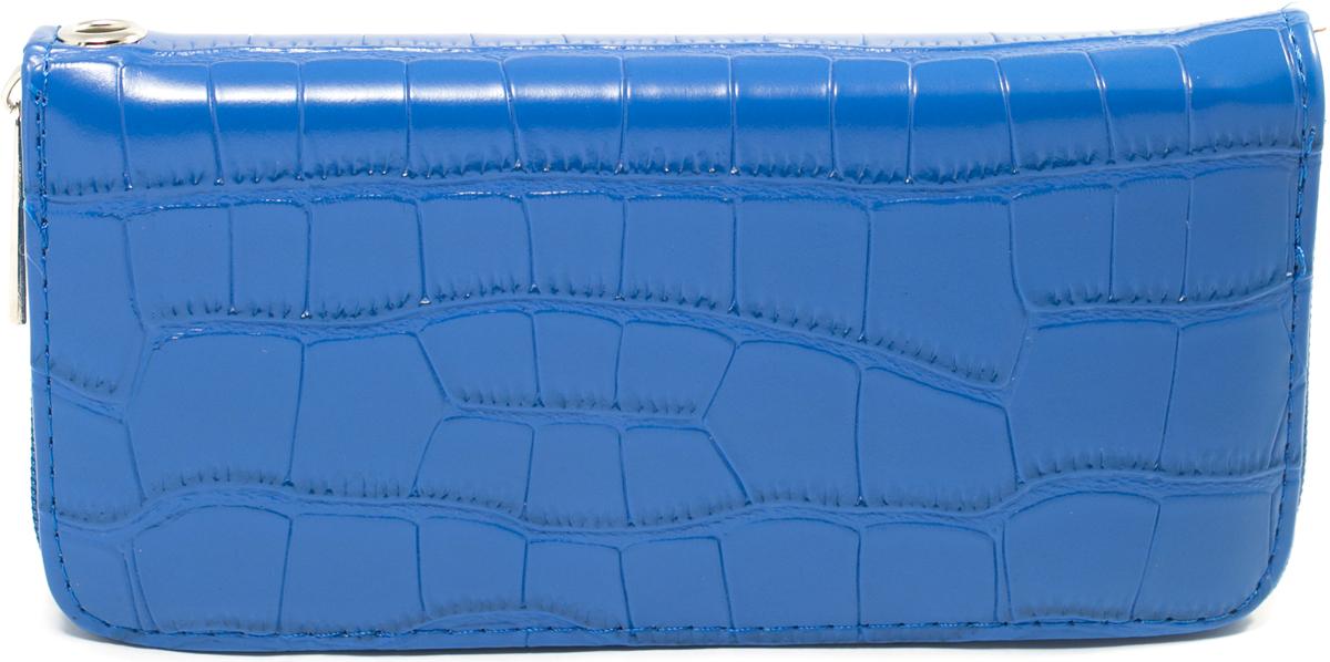 Кошелек женский Mitya Veselkov, цвет: синий. K4-BLU21/0399/068Женский кошелек отличного дизайна от модного бренда Mitya Veselkov. Купюры вмещаются в полную длину. Закрывается кошелек на молнию. Внутри расположено три больших отделения для купюр, кармашки для пластиковых карт и визиток, одно отделение для мелочи.Такой кошелек стильно дополнит ваш образ и станет незаменимым аксессуаром.