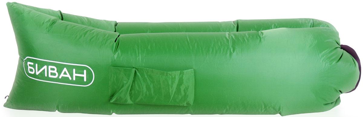 Диван надувной Биван, цвет зеленый, 200 х 90 см95983-325-00Надувается за 15 секунд без насоса, держит воздух 12 часов, ремонтопригоден (рем. комплект продается отдельно)
