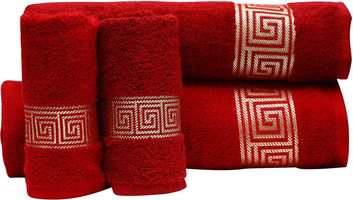 Набор полотенец Proffi Home, цвет: бордовый, 4 шт. PH839468/5/3При изготовлении махровых полотенец используется качественный 100 % хлопок. Махровые полотенца будут приятным добавлением в интерьере ванной комнаты. Мягкое махровое полотенце отлично впитывает влагу и быстро сохнет, детям приятно в него завернуться после принятия ванны или посещения сауны.