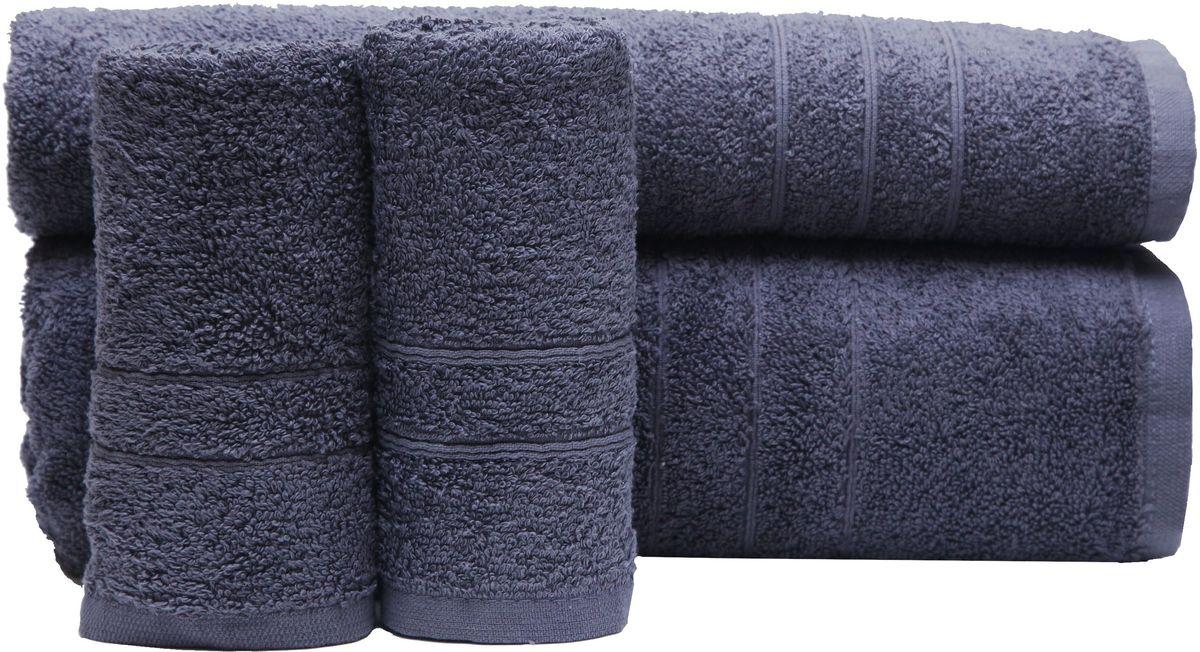 Набор полотенец Proffi Home, цвет: серый, 4 шт. PH8394S03301004При изготовлении махровых полотенец используется качественный 100 % хлопок. Махровые полотенца будут приятным добавлением в интерьере ванной комнаты. Мягкое махровое полотенце отлично впитывает влагу и быстро сохнет, детям приятно в него завернуться после принятия ванны или посещения сауны. Набор их 4 махровых полотенец разных размеров (70*140, 50*100, 30*50 - 2 шт) будет отличным подарком на любой праздник.