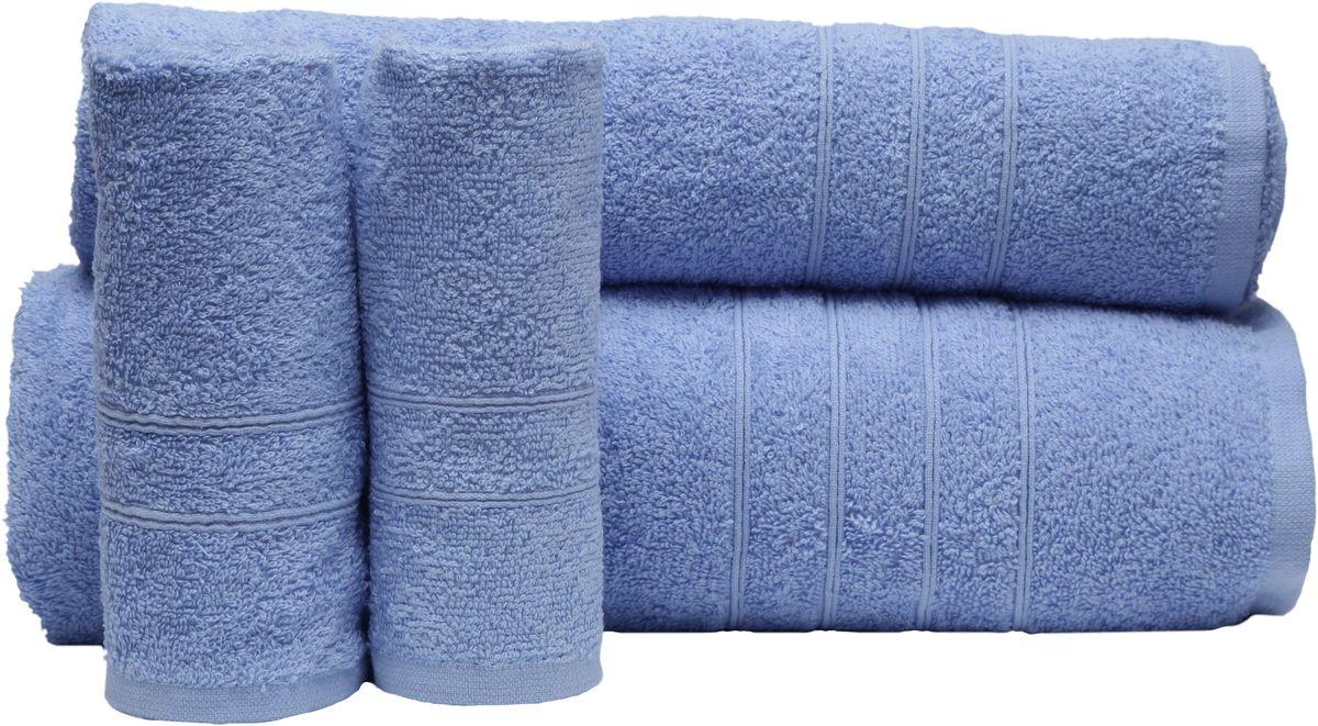 Набор полотенец Proffi Home, цвет: голубой, 4 шт. PH8394531-105При изготовлении махровых полотенец используется качественный 100 % хлопок. Махровые полотенца будут приятным добавлением в интерьере ванной комнаты. Мягкое махровое полотенце отлично впитывает влагу и быстро сохнет, детям приятно в него завернуться после принятия ванны или посещения сауны.