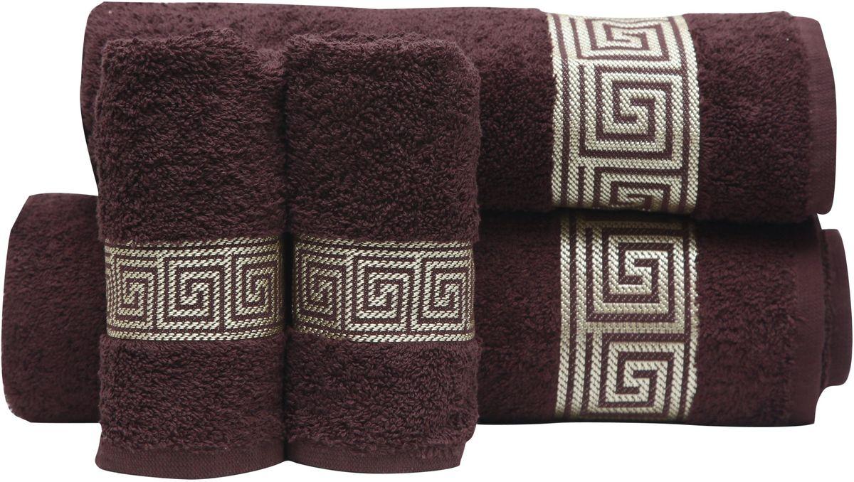 Набор полотенец Proffi Home, цвет: шоколадный, 4 шт. PH839468/5/1При изготовлении махровых полотенец используется качественный 100 % хлопок. Махровые полотенца будут приятным добавлением в интерьере ванной комнаты. Мягкое махровое полотенце отлично впитывает влагу и быстро сохнет, детям приятно в него завернуться после принятия ванны или посещения сауны.