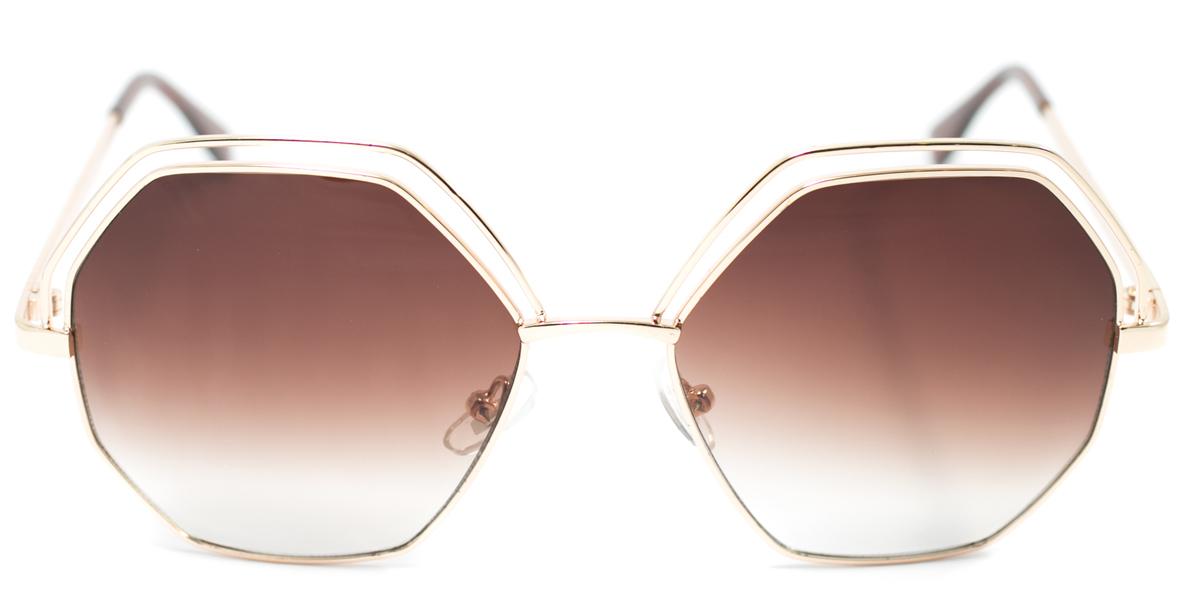 Очки солнцезащитные Mitya Veselkov, цвет: золотистый. OS-131BM8434-58AEПрекрасные антибликовые очки Mitya Veselkov, станут прекрасным и стильным аксессуаром для вас и защитят от УФ лучей. Они помогут глазу более четко распознать картинку, засвеченную солнечными лучами, при этом скорректируют все возникшие искажения.