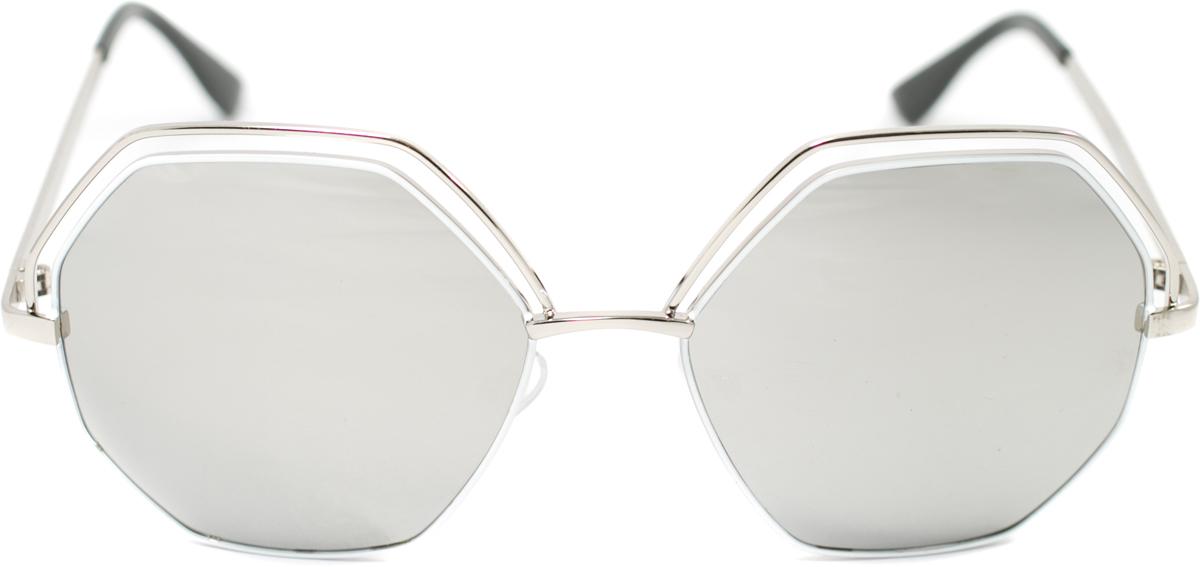 Очки солнцезащитные Mitya Veselkov, цвет: серебристый. OS-130EQW-M710DB-1A1Прекрасные антибликовые очки Mitya Veselkov, станут прекрасным и стильным аксессуаром для вас и защитят от УФ лучей. Они помогут глазу более четко распознать картинку, засвеченную солнечными лучами, при этом скорректируют все возникшие искажения.