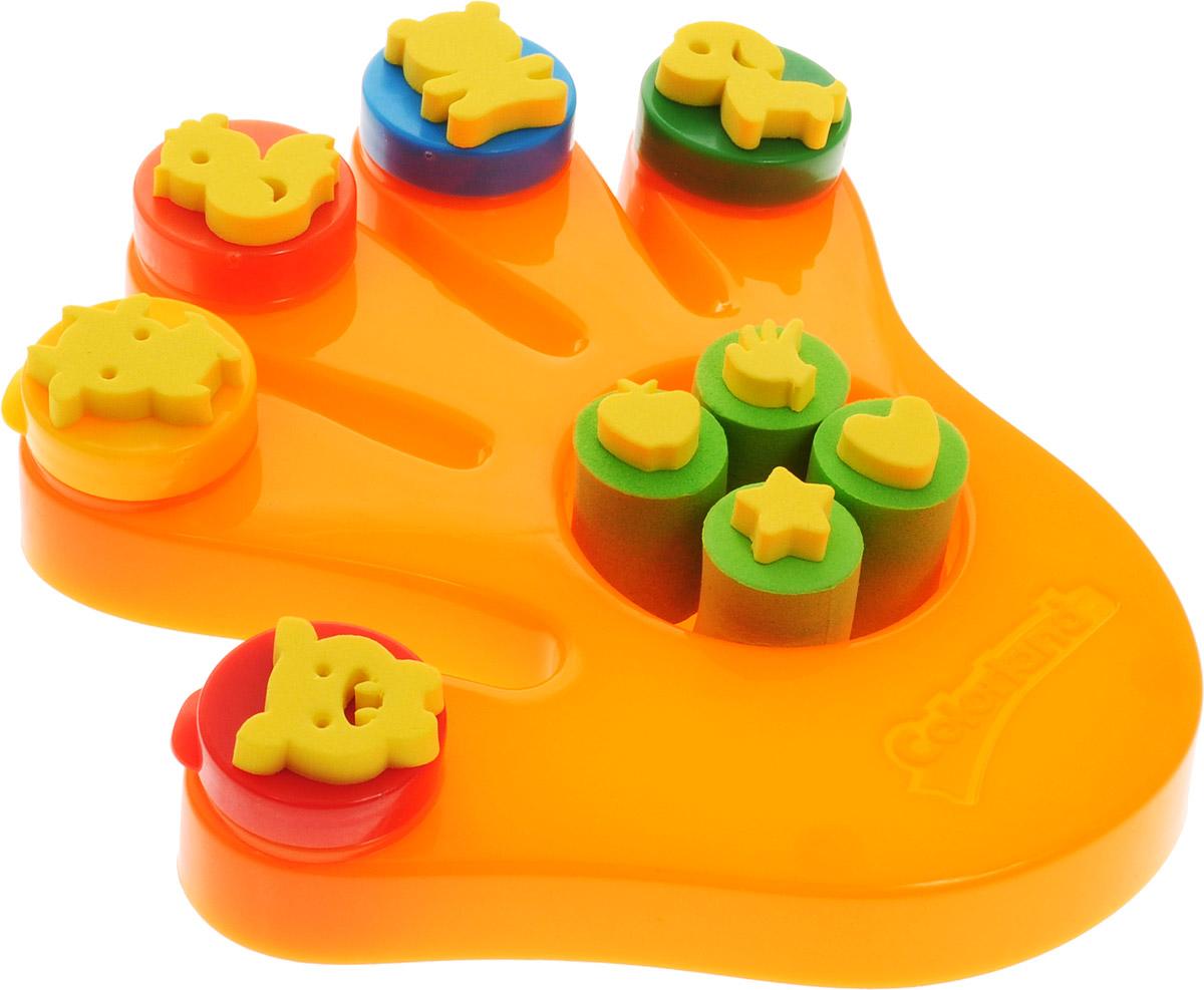 Molly Краски пальчиковые со штампами Ладошка цвет оранжевыйFS-00897Пальчиковые краски предназначены для совсем еще маленьких детей, которые в силу своего возраста не в состоянии удерживать в руке кисть, но уже испытывают потребность в рисовании. Нетоксичные пальчиковые краски для детей являются абсолютно безопасными. Смешивая краски и рисуя пальчиками, ребенок развивает воображение, уверенность в себе и независимость.Консистенция пальчиковых красок позволяет наносить их практически на любую поверхность: стекло, плитка в ванной, бумага. Пальчиковые краски, выполненные на водной основе, легко снимаются с любой поверхности, смываются с рук и отстирываются с одежды.Чудесные пальчиковые краски Molly предназначены для маленьких детей от одного года. В наборе с красками вы найдете штампы, с которыми учиться рисовать будет легче и гораздо интереснее.Состав: пищевой краситель 1-2%, целлюлозный загуститель 1,5-2,5%, глицерин 3-5%, мел 5-10%, консервант косметический 0,3-0,5%, вода питьевая.