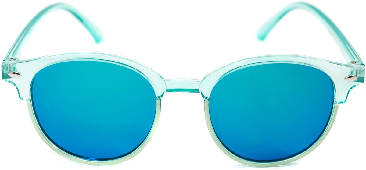 Очки солнцезащитные детские Mitya Veselkov, цвет: голубой. OS-195INT-06501Прекрасные антибликовые очки Mitya Veselkov, станут прекрасным и стильным аксессуаром для вашего ребенка и защитят его от УФ лучей. Они помогут глазу более четко распознать картинку, засвеченную солнечными лучами, при этом скорректируют все возникшие искажения.