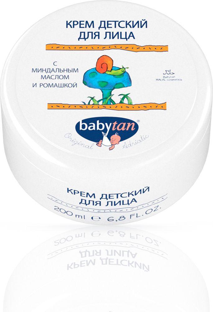 Baby Tan Крем детский для лица с миндальным маслом и экстрактом ромашки, 200 мл10368100% натуральная косметика. Крем для ухода и защиты кожи лица ребенка. Увлажняет, питает и защищает от вредных воздействий окружающей среды. Ослабляет аллергические реакции и стимулирует обмен веществ. Крем может использоваться с раннего возраста до подросткового периода. Особенно эффективен в сочетании с витаминным детским маслом.
