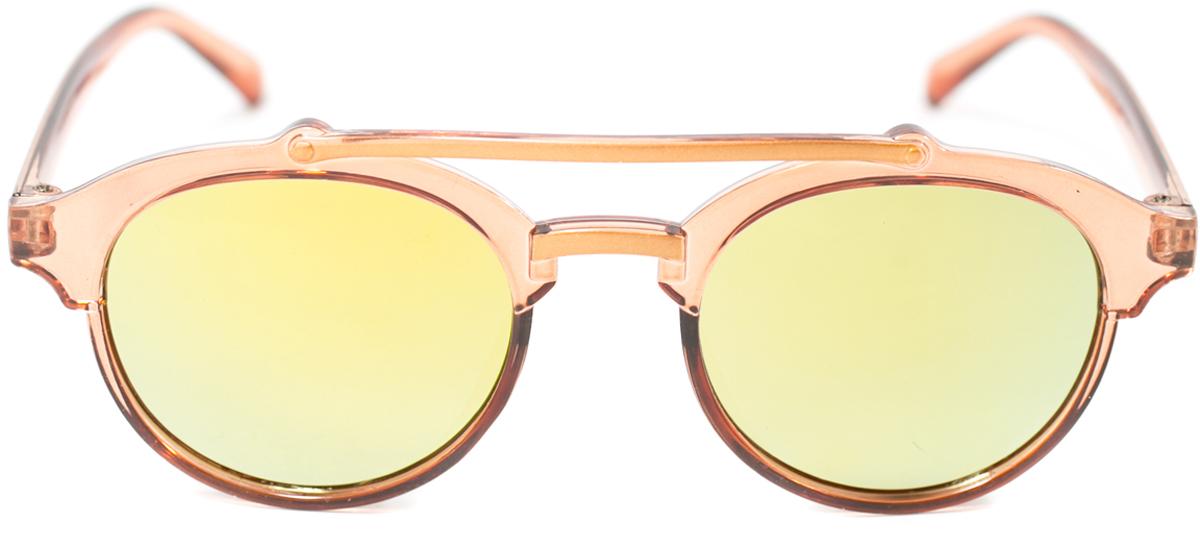 Очки солнцезащитные детские Mitya Veselkov, цвет: коричневый. OS-210INT-06501Прекрасные антибликовые очки Mitya Veselkov, станут прекрасным и стильным аксессуаром для вашего ребенка и защитят его от УФ лучей. Они помогут глазу более четко распознать картинку, засвеченную солнечными лучами, при этом скорректируют все возникшие искажения.