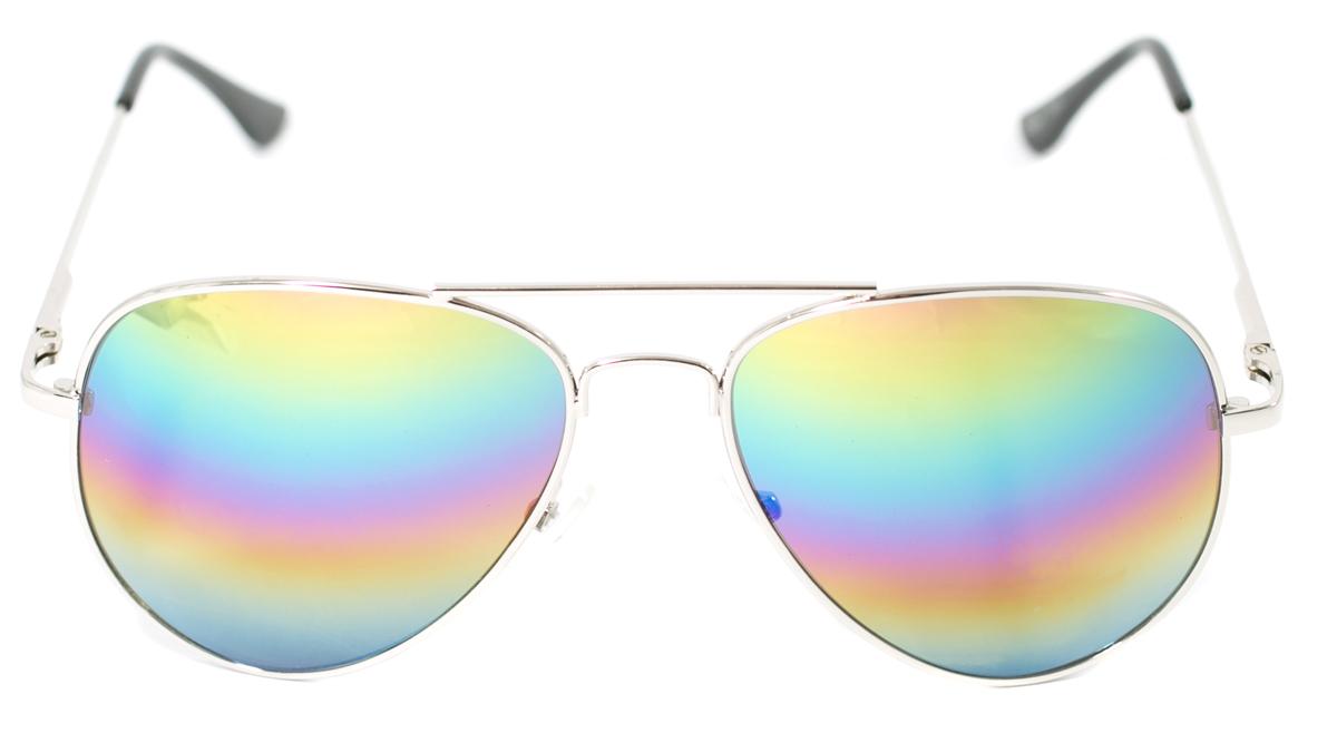 Очки солнцезащитные детские Mitya Veselkov, цвет: серебристый. OS-215INT-06501Прекрасные антибликовые очки Mitya Veselkov, станут прекрасным и стильным аксессуаром для вашего ребенка и защитят его от УФ лучей. Они помогут глазу более четко распознать картинку, засвеченную солнечными лучами, при этом скорректируют все возникшие искажения.