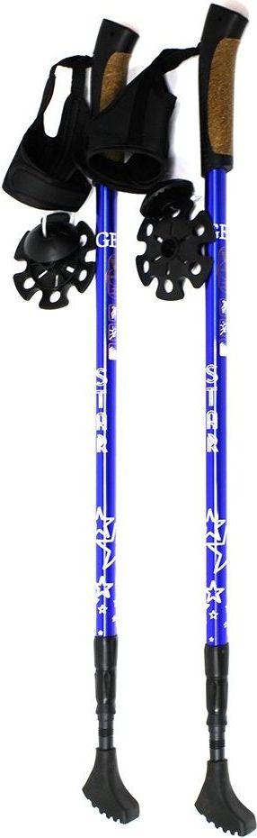 Палки для скандинавской ходьбы Gess Star Walker, телескопические, 3 секции, цвет: синий, длина 68-135 см, 2 штWRA523700• 3-х секционные палки для скандинавской ходьбы;• Ультракомпактные - 68 см в сложенном виде;• Вес 600 гр без упаковки;• Встроенный амортизатор антишок;• Ручка сделана из композитной смеси пробки с полиуретаномб имеет страховочный мешок;• 3 вида насадок: зубчатая, звездочка, башмачок Длина палки: от 68 до 135 смРост человека: от 140 до 195 смМатериал палки: сплав алюминия 6061Ручка: композитная смесь пробки с полиуретаном, страховочный ремешокМатериал наконечника: победитовый сплав Допустимая нагрузка на одну палку: до 60 кгДопустимый диапазон температуры: от -70°С до + 50°С.
