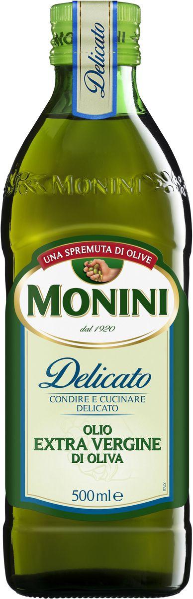Monini Delicato масло оливковое Extra Virgin, 500 мл0120710Delicato - оливковое масло нерафинированное экстра класса обладает легким, приятным вкусом и запахом, благодаря чему обогащает приготовляемые блюда не подавляя их естественный аромат. Идеально для салатов, маринадов, салатных заправок и всех блюд Итальянской кухни.