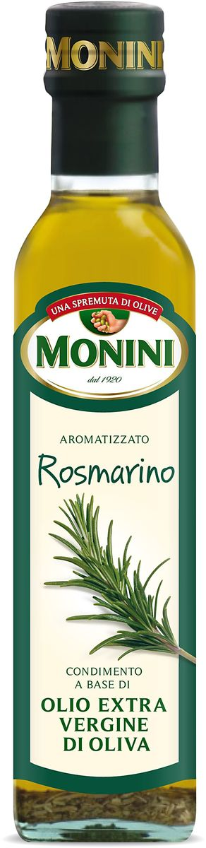 Monini масло оливковое Extra Virgin Розмарин, 250 мл4607014782197Рекомендуется использовать для приготовления мяса, рыбы, овощей, в качестве добавок к макаронным изделиям и салатам. Придаст вашим блюдам неповторимый вкус и аромат.