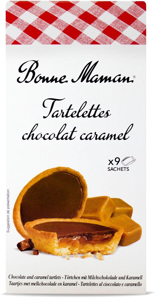Bonne Maman Tartelettes Сдобное печенье с шоколадно-карамельной начинкой, 135 г1530203Бисквитноепеченьесшоколадно-карамельнойначинкой. Отличается насыщенным вкусомшоколада и карамели.
