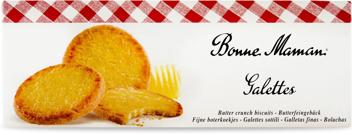 Bonne Maman Печенье Галеты, 90 г1530209Хрустящие сливочныегалеты, выпеченные по французскому рецепту,обладают нежным вкусом, ванильным ароматом и рассыпчатой текстурой.