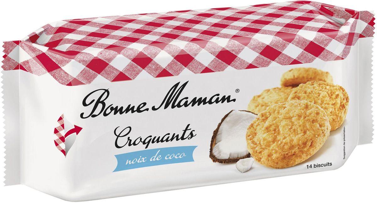 Bonne Maman Песочное хрустящее печенье с кокосом, 150 г1530217Необычайный аромат и насыщенный изысканный вкус кокоса в сдобной французской выпечке по старинным рецептам позволит перенестись на Парижские улочки и почувствовать себя французом.